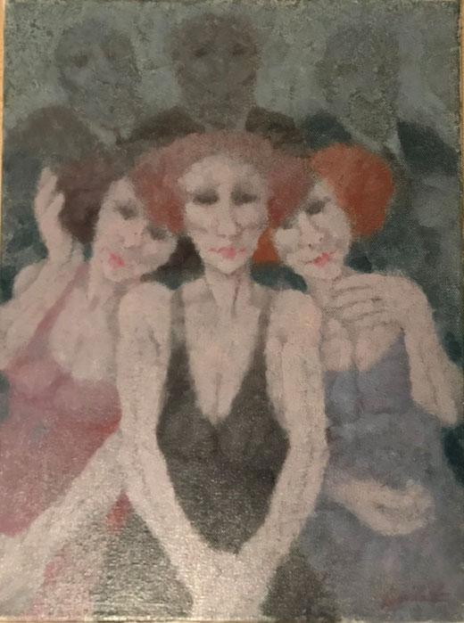 Squillantini Remo - Figure - olio su tela - 30 x 40