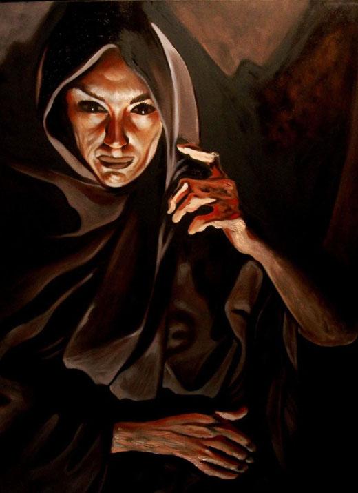Scannella Alessandro (Italia) - L'ironia della sorte - olio su tela - 50 x 70