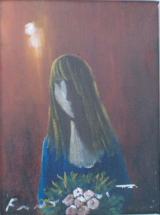 Eliano fantuzzi - L'attesa - olio tela 24 x 18