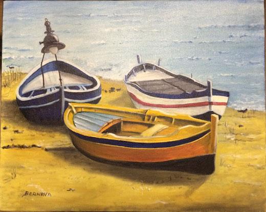 Angelo Bernava - Lampare - olio su tela - 50 x 40