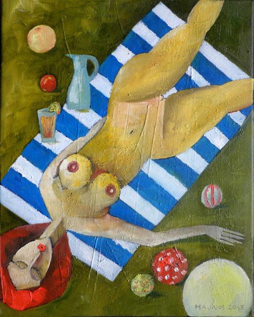 Hajnos Miroslaw (Polonia) - Nudo - olio tela - 24 x 30