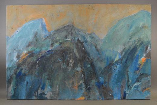 Olivier Steffens - Astratto - acrilico su tela - 100 x 65