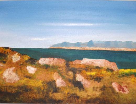 Salvatore Magazzini - Marina Sarda - olio su tavola - 35 x 50