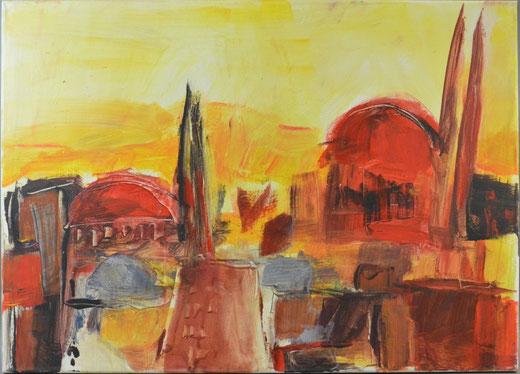 Olivier Steffens - Istanbul - olio su tela - 70 x 50