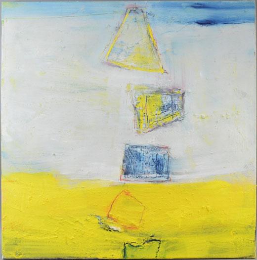 Olivier Steffens - Astratto - olio su tela - 59 x 59