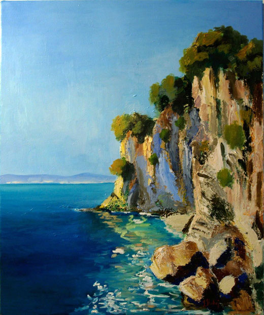 Iskra Shahaj (Albania) - Paesaggio - olio tela - 50 x 60