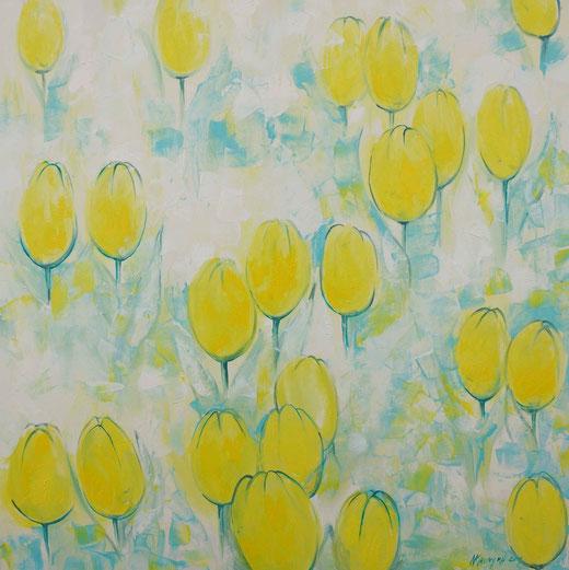 Khromyk Natalia (Ucraina) - Tulipani - olio su tela - 100 x 100