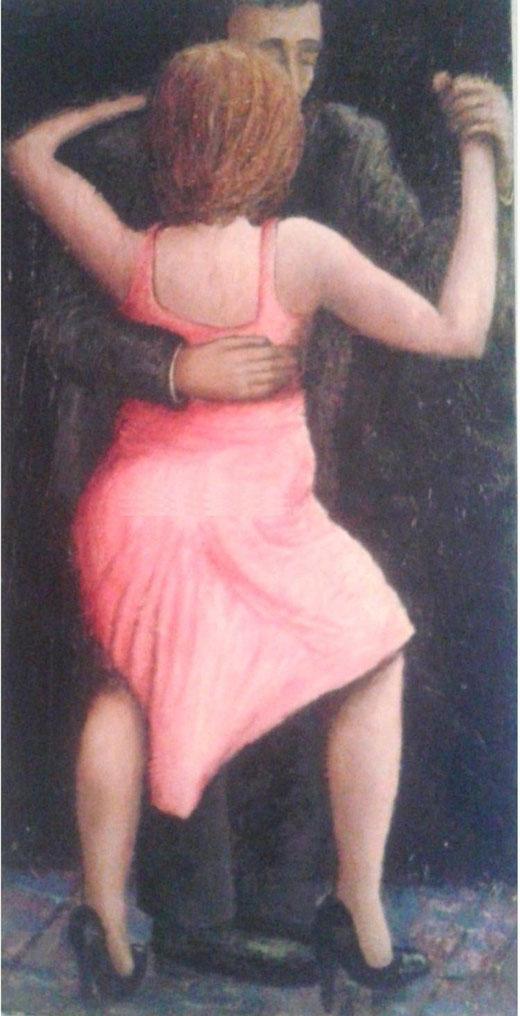 Riccardo Maffioli - Tango - olio tela - 50 x 90