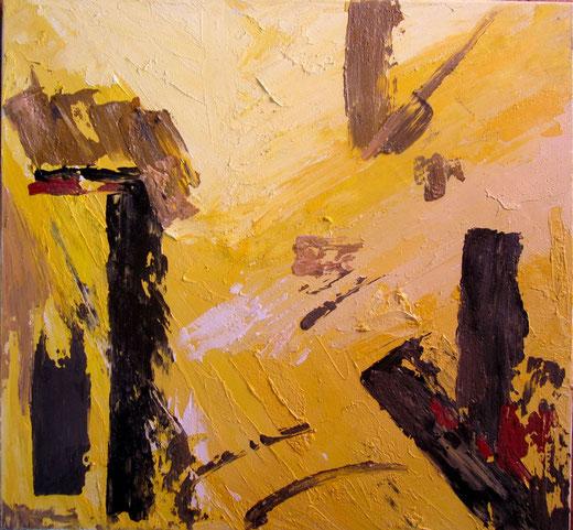 Umkreis Rauschenberg  - Astratto - olio su tela - 70 x 65