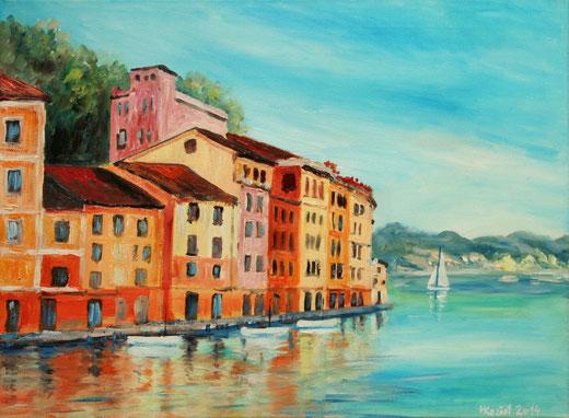 Marek Koziol - Portofino - olio tela - 40 x 30