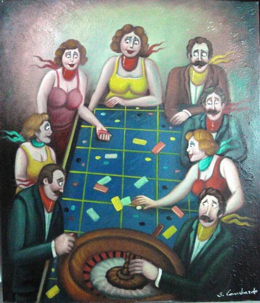Lombardo Salvo - Roulette - olio tela - 60 x 70