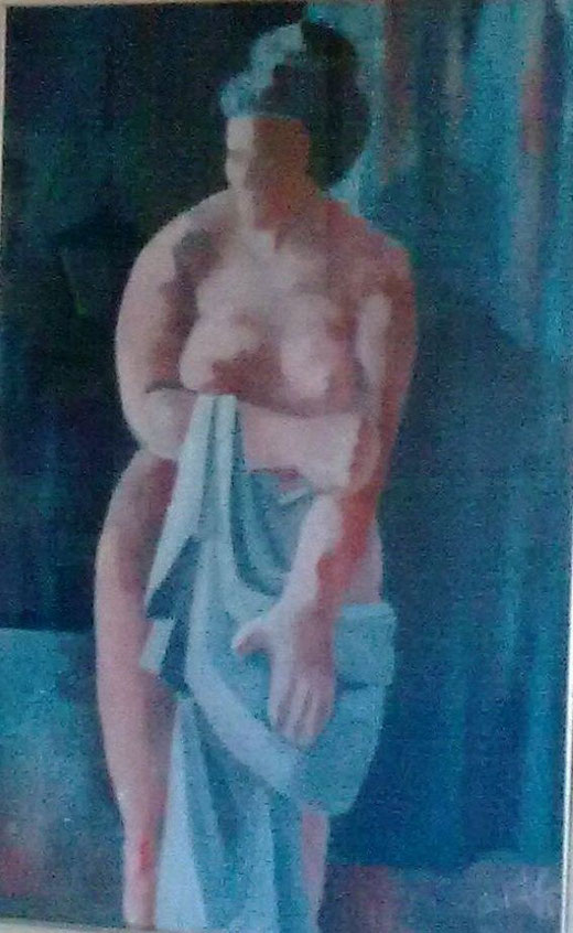 Carla Carletti - Nudo - olio tela - 40 x 60