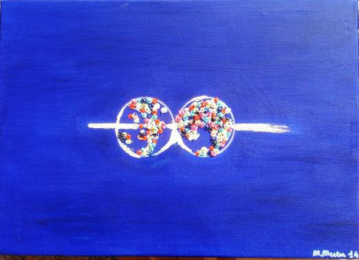 Merler Marianna (Italia) - Come è piccolo il mondo - olio tela - 70 x 50