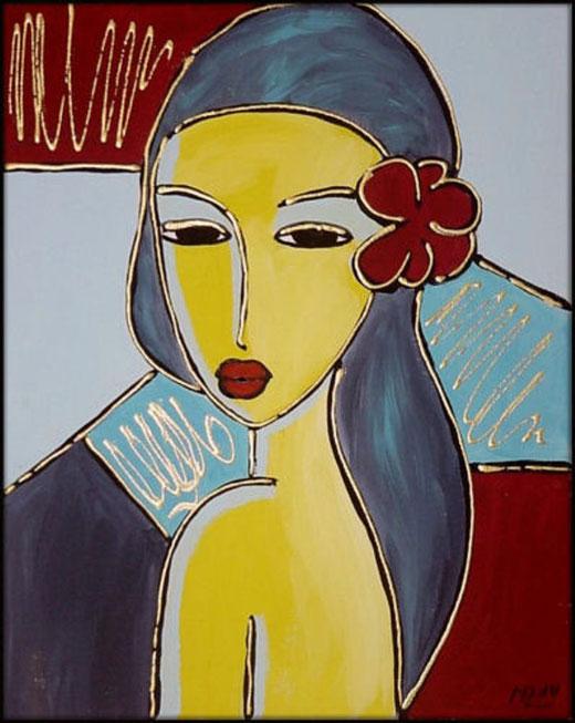 Marianne Lange - Ivette - tecnica mista tela - 24 x 30