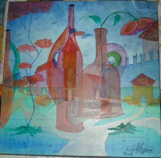 """Carlo Dezzani """"Dejan"""" - In fondo a se stessi - olio su tela - 40 x 50"""