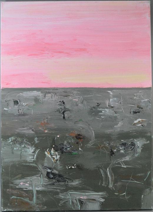 olivier Steffens - Astratto - olio su tela - 70 x 50