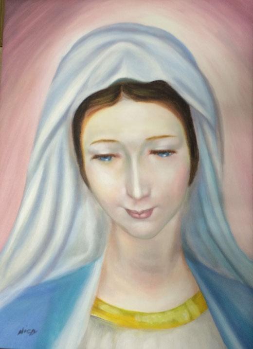 Nicola Carnevale (Italia) - Madonna - olio su tela - 40 x 55