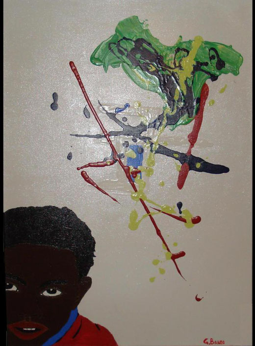 Gianluca Bruno - Oppressione - olio su tela 50 x 70