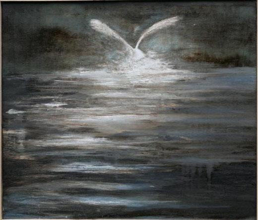 Calamida Giada - Spiccare il volo - tecnica mista tela - 60 x 50