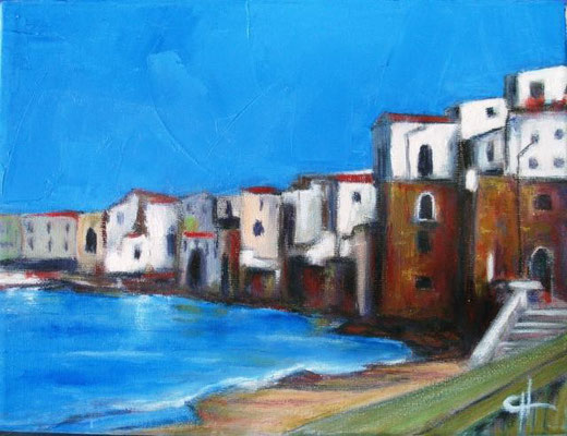 Gargano Giovanni  - Cefalù - olio tela  - 24 X 18