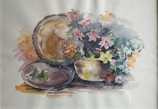 Bonfanti Adelaide - Composizione autunnale - acquerello su carta - 50 x 35