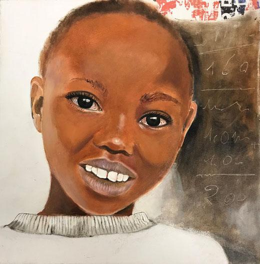 Berardicurti Barbara - Ahmed - olio su tela - 30 x 30