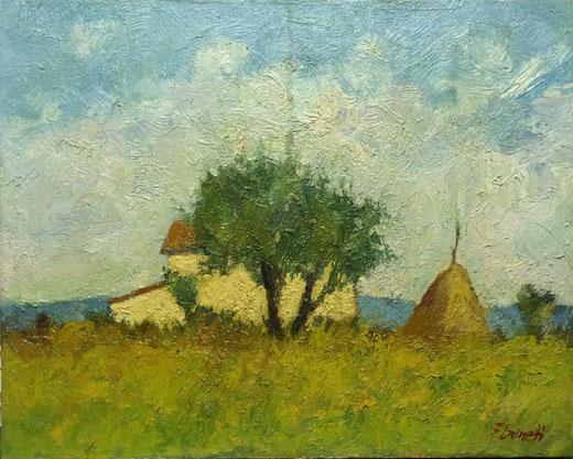 Serretti Franco (Italia) - Campagna - olio su tela - 50 x 40