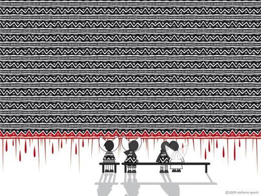 Spanò Srefania – Angeli al tappeto - computer graphics - forex - 100 X 70