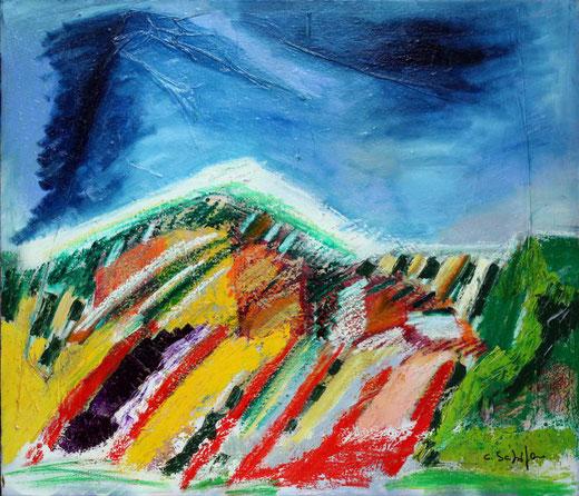 Claudio Schifano - La mia montagna - olio su tela - 70 x 60