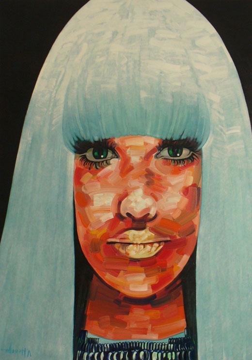 Valentin Neacsu (Romania) Lady Pharaoh - olio tela - 90 x 130