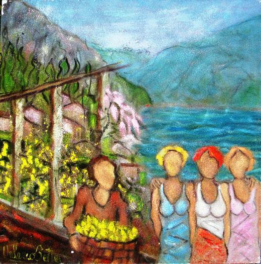 Betta Valerio (Italia) - Flash a Limone - olio tela - 60 x 60