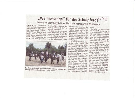 Schulpferde-Management WB Artikel Kreiszeitung