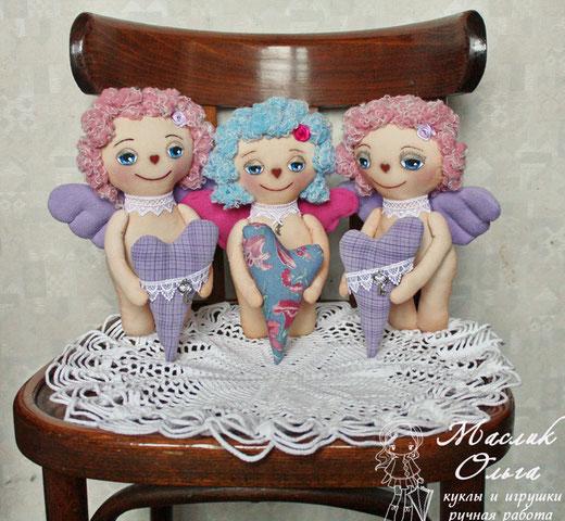текстильная кукла, ангел, купить