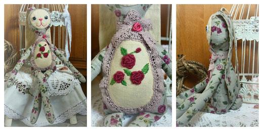 текстильный заяц. Автор Маслик Ольга