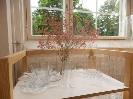 美しいガラスと森