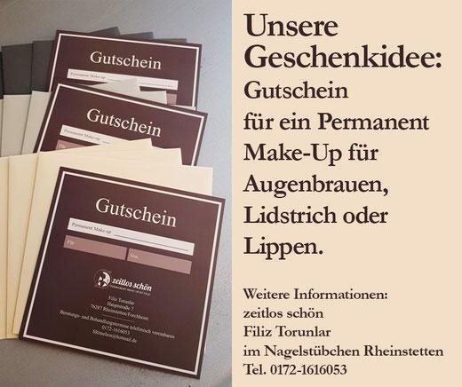 Geschenkgutschein Permanent Make-Up Rheinstetten