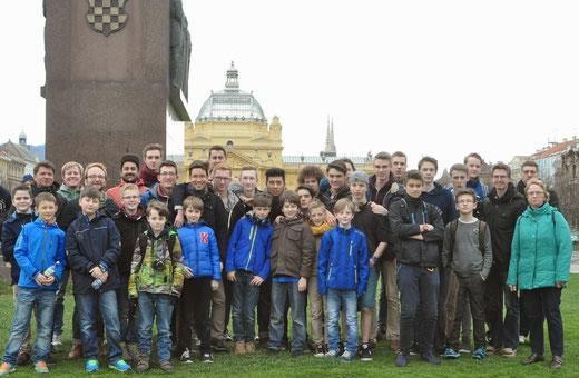 Gruppenbild in Zagreb