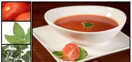 Tomatensuppe (vegan) mit mediterranen Kräuteern und Inulin für eine gesunde Verdauung. Mit Protein