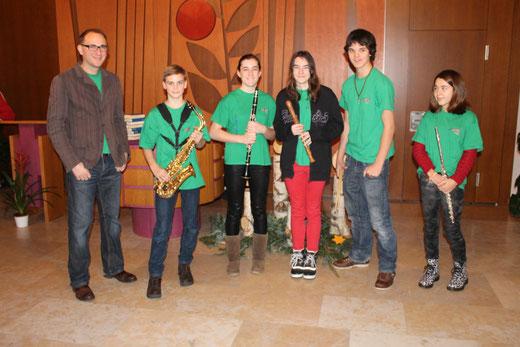 Jugendband Wangen bei Olten unter der Leitung von Viktor Del Ponte