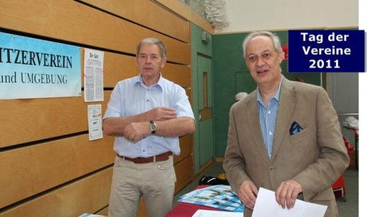 Tag der Vereine in HORN. Auch unser Verein war vertreten. Karl Heitzenberger und  Rudolf-Anton Preyer