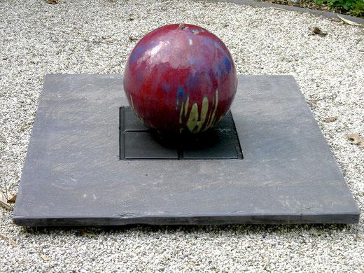 """Brunnen-Kugel """"china"""" auf Steinplatte"""