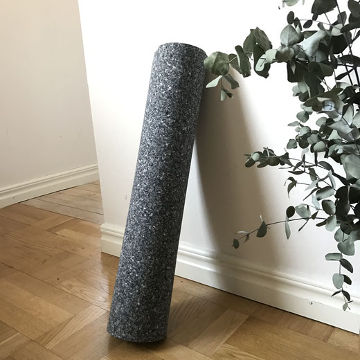 Yoga mats made from recycled materials instead of natural rubber.