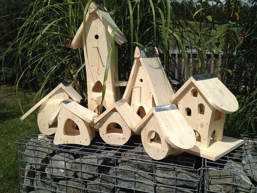 Vogelhäuser unbehandelt