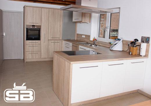 offene Küche perfekt in den Raum integriert
