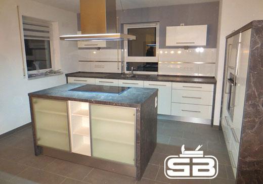 Küchenblock als Raumteiler
