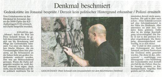 4. August 2007 - Quelle: Thüringer Allgemeine