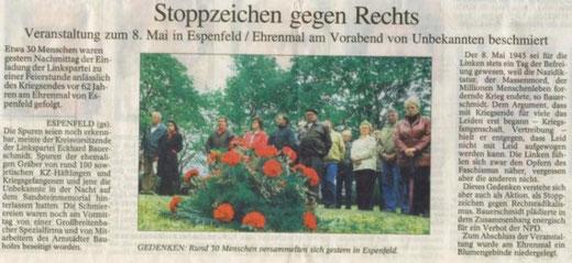 9. Mai 2007 Ehrenmal von Unbekannten beschmiert
