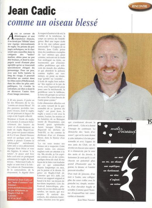 Articles paru dans la revue Reflets de la ville de Lanester en 2002