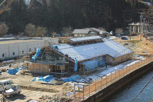 建設中の記念館の様子 H25.2.撮影