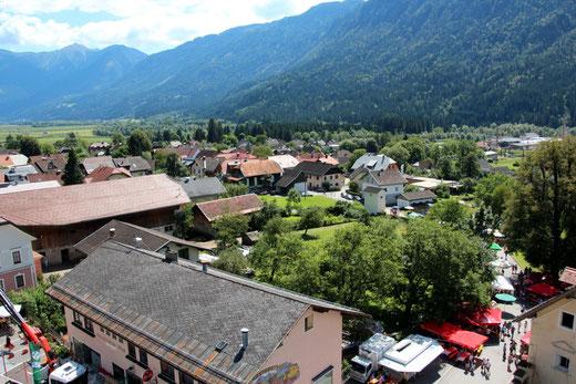 Blick auf Steinfeld aus 32 m Höhe